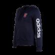 """adidas kapucnis, cipzáras pulóver, sötétkék, női """"MOL Fehérvár FC"""" címerrel"""