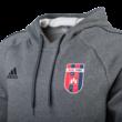 """ADIDAS KAPUCNIS, KENGURUZSEBES PULÓVER, szürke, felnőtt """"MOL VIDI FC"""" CÍMERREL"""