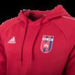 """ADIDAS KAPUCNIS, KENGURUZSEBES PULÓVER, PIROS, felnőtt """"MOL VIDI FC"""" CÍMERREL"""