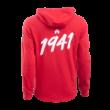 """adidas kapucnis pulóver, piros, felnőtt """"MOL Fehérvár FC"""" címerrel"""
