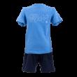 """adidas short és póló szett, kék, baby """"1941"""" felirattal"""