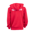 "adidas kapucnis, cipzáras pulóver, piros, gyermek ""fehér vár"" logóval"