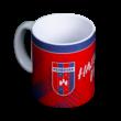 """Bögre, piros """"MOL Fehérvár FC"""" címerrel"""
