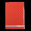 A/5-ös füzet, vonalas, mezes, piros
