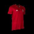 adidas edzőpóló 2018/2019, piros, rövid ujjú, felnőtt