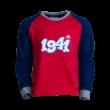 """Pizsama, piros-kék, gyermek """"1941"""" felirattal"""