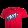 """Kereknyakú póló, piros, felnőtt """"1941"""""""