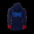 """Kapucnis, cipzáras pulóver, kék, gyermek """"1941"""""""