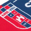 """Szurkolói sál, kétoldalas, kötött, piros-kék """"MOL VIDI FC"""""""