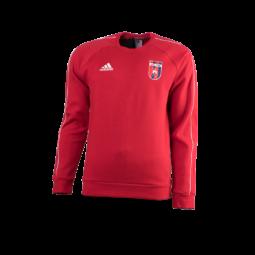 """adidas kereknyakú pulóver, piros, felnőtt """"mol vidi fc"""" címerrel"""