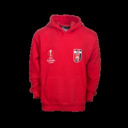 kapucnis, kenguruzsebes pulóver, piros, gyermek, Europa league