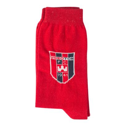 "Zokni, piros ""Videoton"" címerrel"