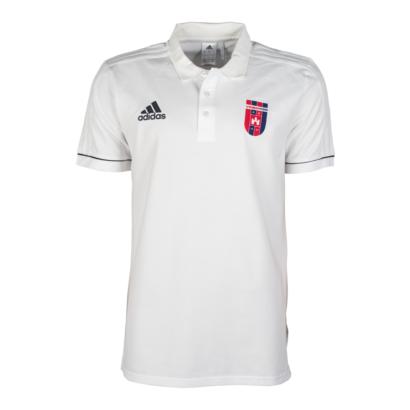 """Adidas gálapóló, galléros, fehér, rövid ujjú, felnőtt """"Videoton"""" címerrel"""