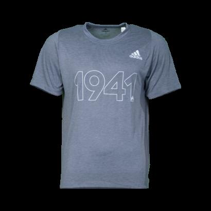 """adidas kereknyakú póló, szürke, felnőtt """"1941"""" felirattal"""
