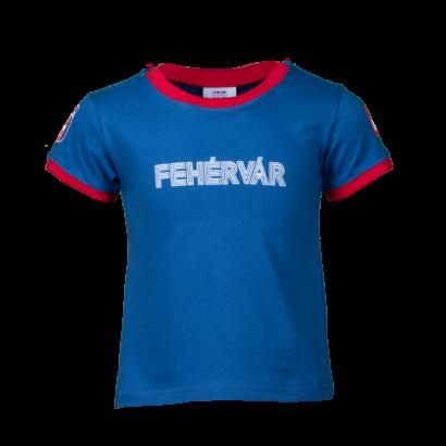 """Kereknyakú póló, kék, gyermek """"FEHÉRVÁR"""" felirattal"""