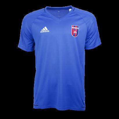"""Adidas edzőpóló, kék, rövid ujjú, felnőtt """"Videoton"""" címerrel"""
