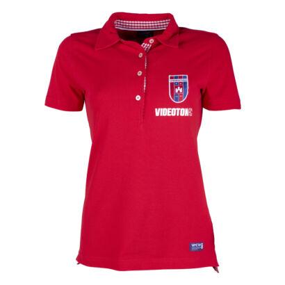 "Galléros póló, piros, női ""Videoton FC"""
