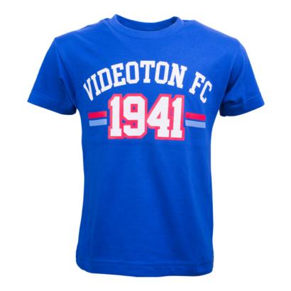 """Kereknyakú póló, kék, gyermek """"Videoton FC 1941"""""""