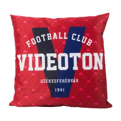 """Díszpárna, piros, """"Videoton Football Club"""""""