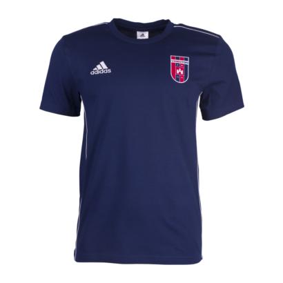 """Adidas kereknyakú póló, kék, gyermek, """"Videoton"""" címerrel"""