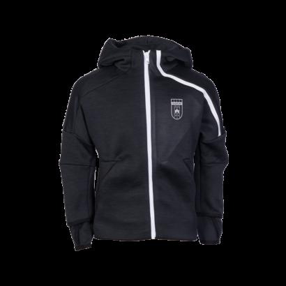 """adidas kapucnis, cipzáras pulóver, fekete, gyermek, """"Fehérvár FC"""" címerrel"""