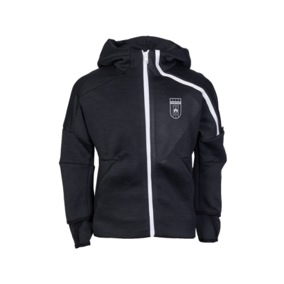 """adidas kapucnis, cipzáras pulóver, fekete, gyermek, """"MOL Fehérvár FC"""" címerrel"""