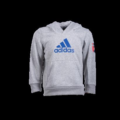 """adidas kapucnis pulóver, szürke, gyermek """"MOL Fehérvár FC"""" címerrel"""