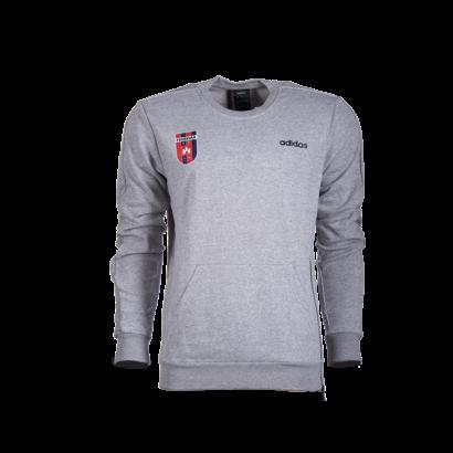 """adidas kereknyakú pulóver, szürke, felnőtt """"MOL Fehérvár FC"""" címerrel"""