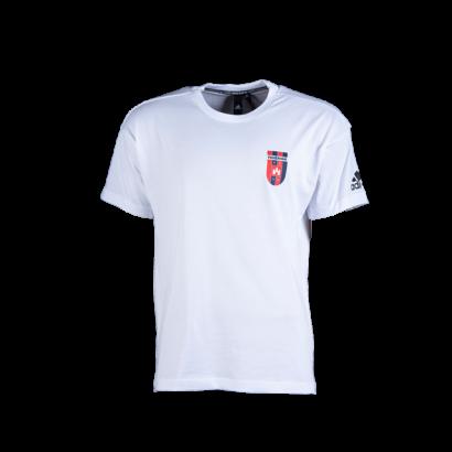 """adidas kereknyakú póló, fehér, felnőtt """"MOL Fehérvár FC"""" címerrel"""