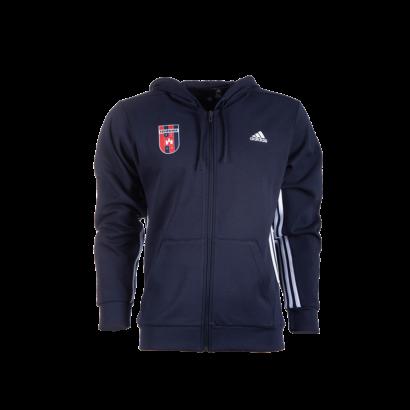"""adidas kapucnis, cipzáras pulóver, kék, felnőtt """"MOL Fehérvár FC"""" címerrel"""