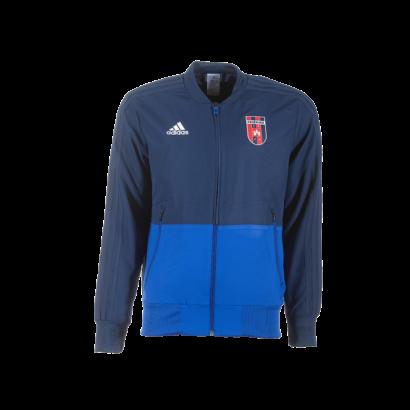 """adidas cipzáras melegítőfelső, kék, felnőtt """"MOL Fehérvár FC"""" címerrel"""