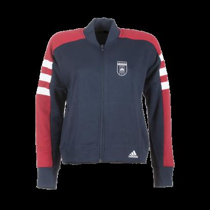 """adidas átmeneti kabát, piros-kék, női """"MOL Fehérvár FC"""" címerrel"""