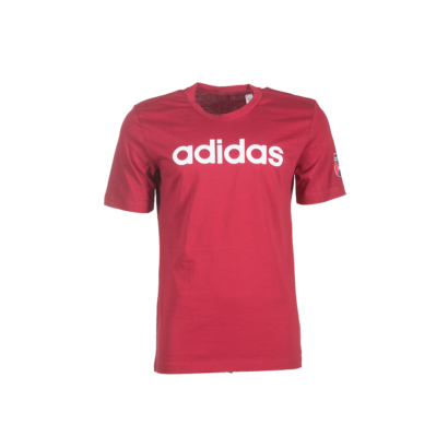 """adidas kereknyakú póló, piros, felnőtt """"MOL Fehérvár FC"""" címerrel"""