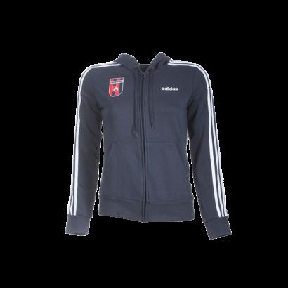 """adidas kapucnis, cipzáras pulóver, kék, női """"MOL Fehérvár FC"""" címerrel"""