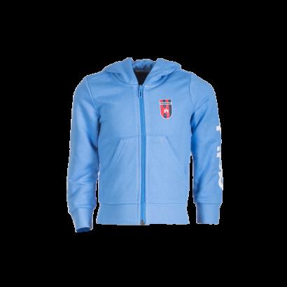 """adidas kapucnis, cipzáras pulóver, kék, lány """"MOL Fehérvár FC"""" címerrel"""