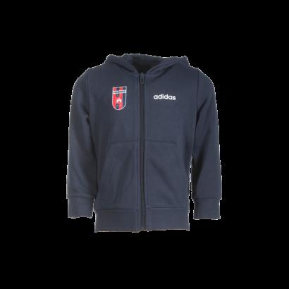 """adidas kapucnis, cipzáras pulóver, kék, gyermek """"MOL Fehérvár FC"""" címerrel"""
