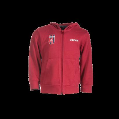 """adidas kapucnis, cipzáras pulóver, piros, gyermek """"MOL Fehérvár FC"""" címerrel"""
