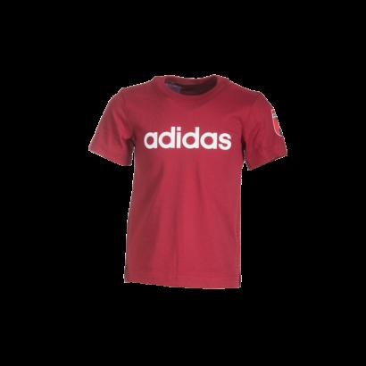 """adidas kereknyakú póló, piros, gyermek """"MOL Fehérvár FC"""" címerrel"""