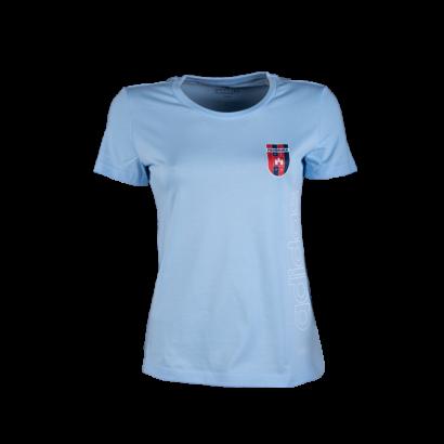 """adidas kereknyakú póló, kék, női """"MOL Fehérvár FC"""" címerrel"""