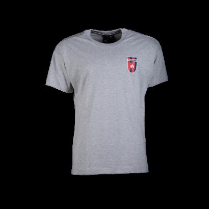 """adidas kereknyakú póló, szürke, felnőtt """"MOL Fehérvár FC"""" címerrel"""