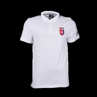"""adidas galléros póló, fehér, felnőtt """"MOL VIDI FC"""" címerrel"""