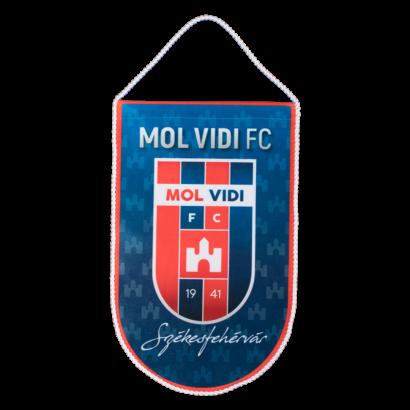 """asztali nagy zászló, """"mol vidi fc"""" címerrel"""