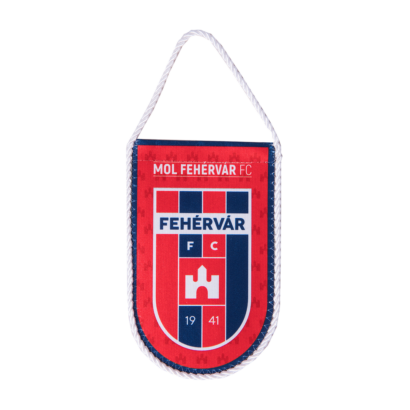 """autós zászló, selyem """"mol fehérvár fc"""" címerrel"""