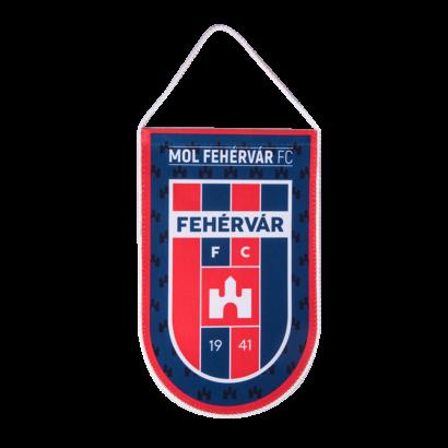 """Asztali nagy zászló, selyem """"MOL Fehérvár FC"""" címerrel"""