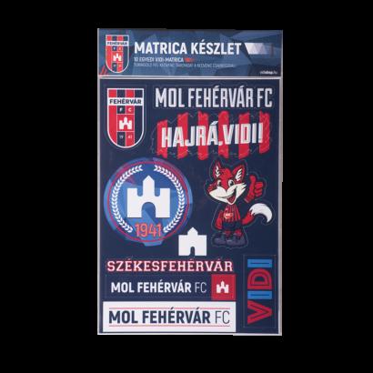 """Matrica készlet """"MOL Fehérvár FC"""""""