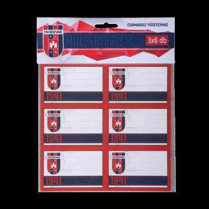 """Füzetcímke """"MOL Fehérvár FC"""" címerrel"""