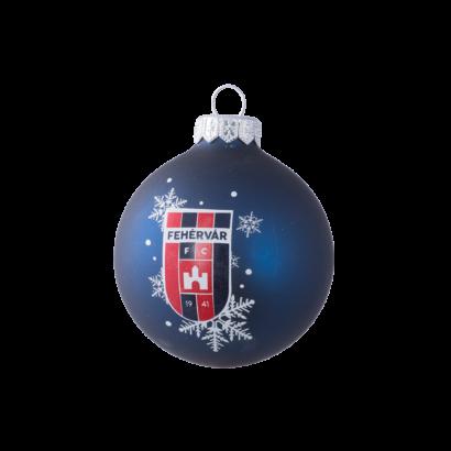 """Karácsonyfadísz, kék """"MOL Fehérvár FC"""""""