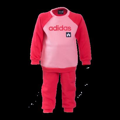 """adidas melegítőszett, rózsaszín, baby """"fehér vár"""" logóval"""