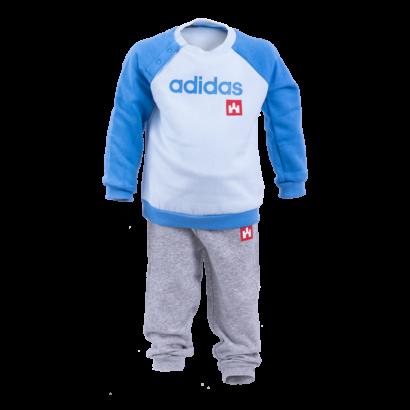 """adidas melegítőszett, kék, baby """"fehér vár"""" logóval"""