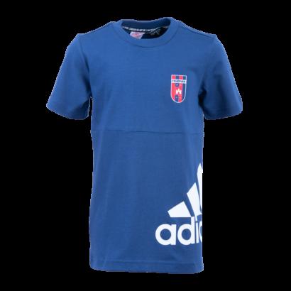 """adidas kereknyakú póló, sötétkék, gyermek """"MOL Fehérvár FC"""" címerrel"""